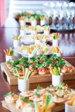 Snack, luxury dish, meal for event, banquet in restaurant Royalty Free Stock Photo