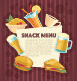 Snack menu Stock Images