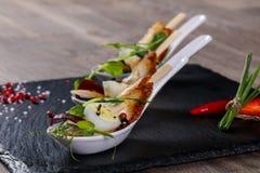 Snack met paling en ei royalty-vrije stock afbeelding