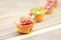 Snack met vlees Royalty-vrije Stock Foto's