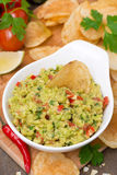 Snack - Mexican sauce guacamole, top view Royalty Free Stock Images