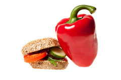 Snack mit rotem Pfeffer Lizenzfreies Stockbild