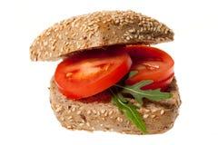 Snack mit Tomate Lizenzfreie Stockfotografie