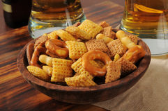 Snack mix on a bar counter Royalty Free Stock Images