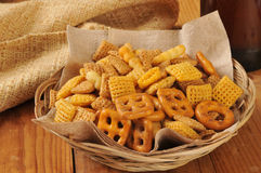 Snack mix and beer Royalty Free Stock Image