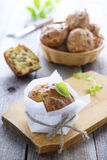 Snack muffin with mushrooms Royalty Free Stock Images