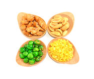 Snack Nuts with white background Stock Photography