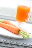Snack in the office Royalty Free Stock Images