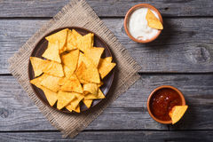 Snack for party chips nachos Stock Photography