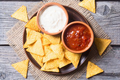 Snack for party chips nachos Royalty Free Stock Photo