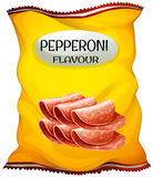 Snack with pepperoni flavor Stock Image