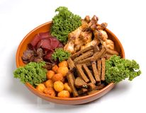 Snack Plate Royalty Free Stock Images