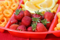Snack plate closeup Royalty Free Stock Photo