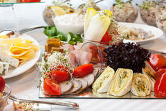 Snack plate closeup Royalty Free Stock Images