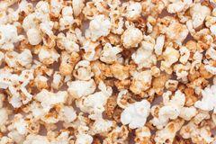 Snack popcorn a texture background. Royalty Free Stock Image
