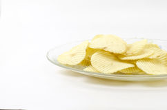 Snack potato chips isolated on white Stock Image