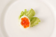 Snack of  quail eggs Stock Photography