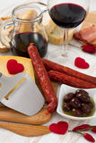 Snack with red wine Stock Photo