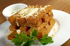 Snack roast rusk from dark bread Stock Image