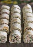 Snack roll pita Stock Photography