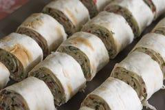 Snack roll pita Stock Image