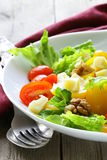 Snack salad with cheese Royalty Free Stock Photography