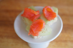 Snack with salmon Stock Images