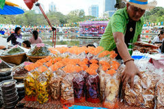 Snack seller at Annual Lumpini Cultural Festival Stock Image