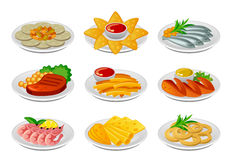 Snack set Stock Image