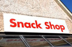 Snack shop signage stock photos