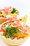 Snack from shrimps Royalty Free Stock Image