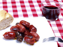 Snack Size Sausages Royalty Free Stock Images
