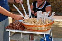 Snack stall, Marbella. Stock Image