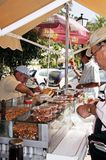 Snack stall, Mijas. Royalty Free Stock Images