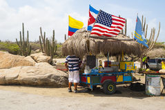 Snack stand on Aruba Stock Photography