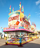 Snack stand. Candy and popcorn stand on a carnival midway Stock Photo