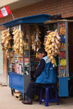 Snack Stand in Miraflores, Lima, Peru Royalty Free Stock Photos