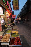 Snack street at night Stock Photo