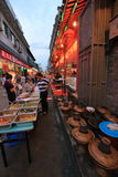 Snack street at night Royalty Free Stock Photo
