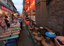 Snack street at night Stock Photography