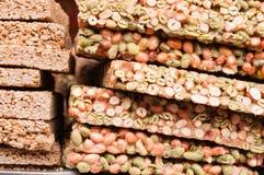 Peanut sugars. On the street vendors in Chengdu Stock Photos