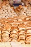 Sesame pancake. On the street vendors Royalty Free Stock Photos