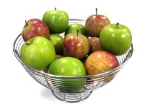 Snack time!. Landscape photo of a bowl of apples stock photos