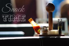 Snack Time. Launch in bistro cafe Royalty Free Stock Photography