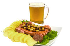 Snack to beer cart Royalty Free Stock Images