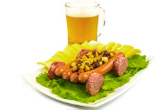Snack to beer cart Stock Images
