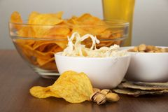Snack to beer, closeup Stock Image