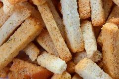 Snack to beer. Wheaten crackers. Stock Photos