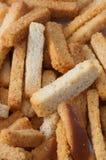 Snack to beer. Wheaten crackers. Stock Photo