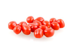 Snack tomatos. Isolated on white background stock image